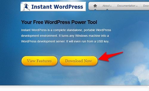 Instant WordPressのダウンロード画面