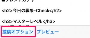 投稿オプションボタン